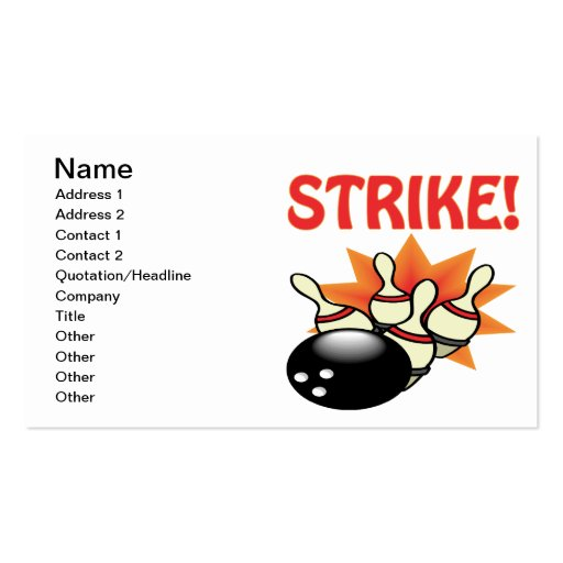 Strike Business Card Template