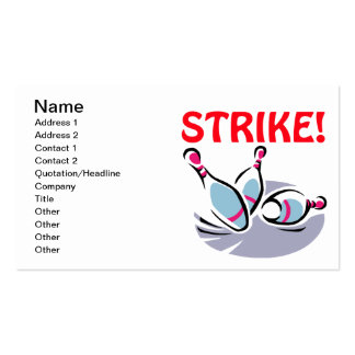 Strike Pack Of Standard Business Cards