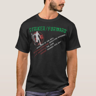 Striker/Forward's Roles (Black) T-Shirt