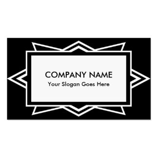 Striking Art Deco Simple Black and White Pack Of Standard Business Cards
