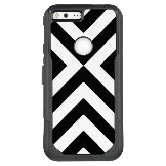 Striking Black and White Chevrons OtterBox Commuter Google Pixel XL Case