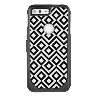 Striking Black and White Meander OtterBox Commuter Google Pixel Case
