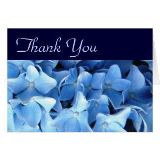 Striking Blue Hydrangeas Thank You Card 6