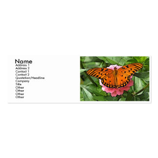 Striking butterly profile card pack of skinny business cards