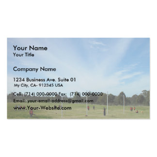 """Striking """"Cloud Rays"""" Over Football Oval At Landsd Business Card"""