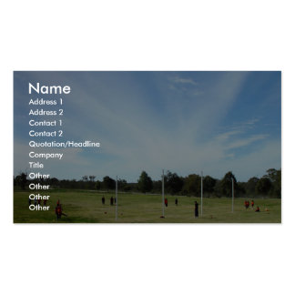 """Striking """"Cloud Rays"""" Over Football Oval At Landsd Business Card Template"""