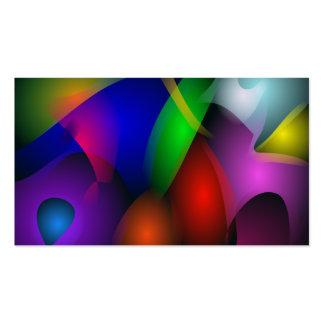 Striking Dark Abstract Art Business Card Templates