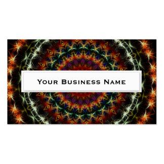 Striking Dark Mandala Kaleidoscope Business Cards