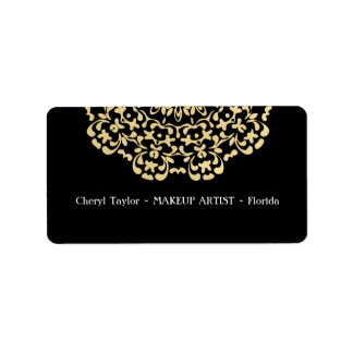 Striking Gold Black Classy Personalized Address Label