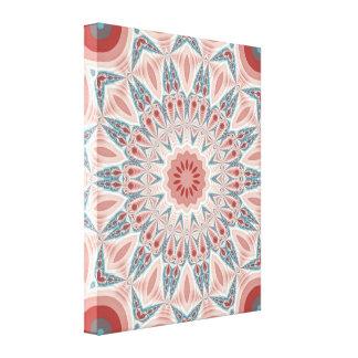 Striking Modern Kaleidoscope Mandala Fractal Art Canvas Print