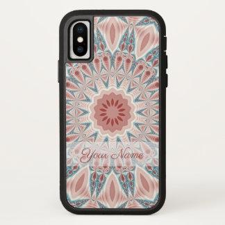Striking Modern Kaleidoscope Mandala Fractal Name iPhone X Case