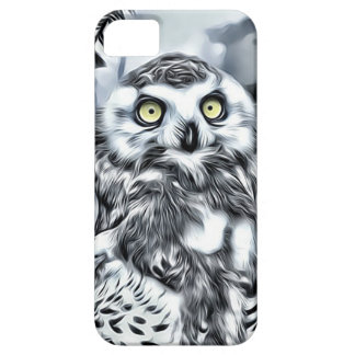 Striking Owl On Winter Branch Cell Phone Case