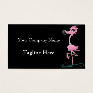 Striking Pink Flamingo Business Cards