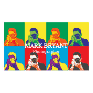 Striking Pop Art Camera Photographer Pack Of Standard Business Cards