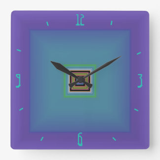 Striking Purple with Green/Blue Centre>Wall Clock