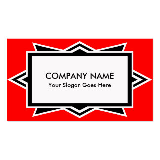 Striking Red and Black Art Deco Simple Pack Of Standard Business Cards
