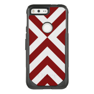 Striking Red and White Chevrons OtterBox Commuter Google Pixel Case
