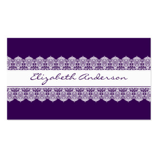 Striking Royal Purple and Lace Pack Of Standard Business Cards