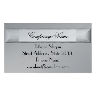 Striking Silver Grey Professional Pack Of Standard Business Cards