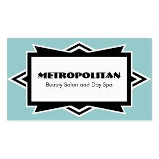 Striking Simple Art Deco Custom Color Business Card Templates