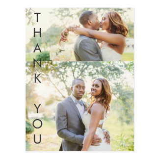 Striking Thank You Postcard