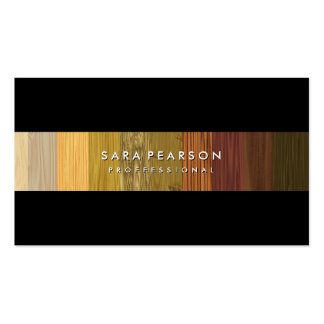 Striking Wood Panel Stripe BusinessCard Business Card Templates