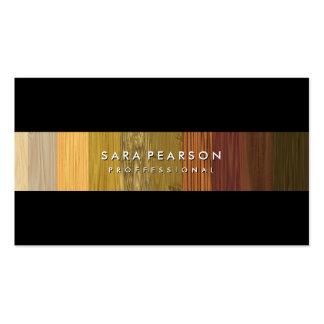 Striking Wood Panel Stripe BusinessCard Pack Of Standard Business Cards