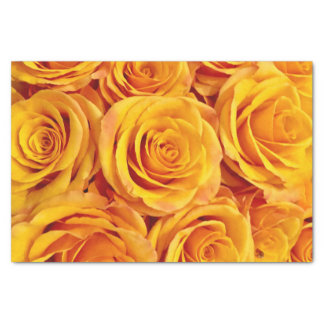 Striking Yellow Roses Tissue Paper