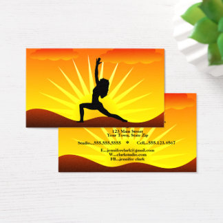 Striking Yellow Sunset Yoga Pose