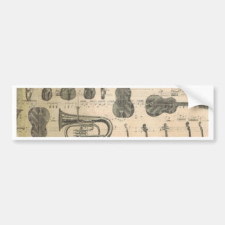 string and brass bumper sticker