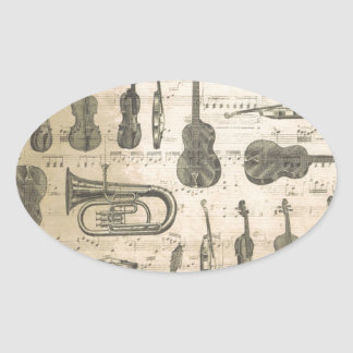 string and brass oval sticker
