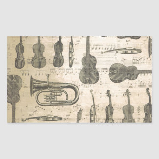 string and brass rectangular sticker