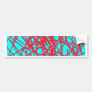 String art car bumper sticker