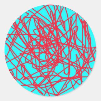 String art round sticker