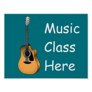 String guitar music sign poster