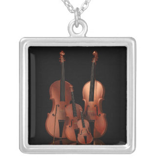 String Instruments Square Necklace