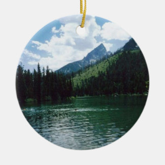 String Lake- Wyoming Ceramic Ornament