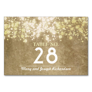 String lighs Wedding Table Number Card Place Card
