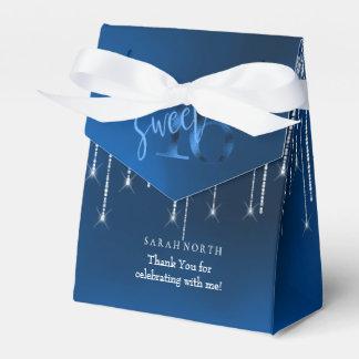 String Lights & Balloons Sweet 16 Dk Blue ID473 Favour Box
