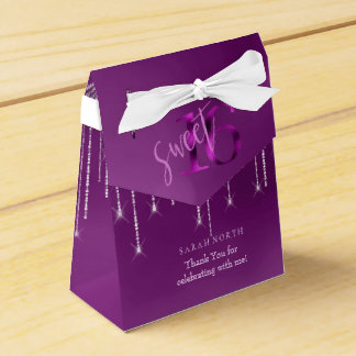 String Lights & Balloons Sweet 16 Orchid ID473 Favour Box