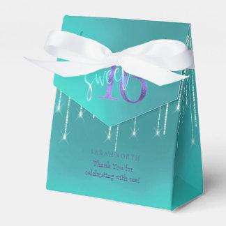 String Lights & Balloons Sweet 16 TealPurple ID473 Favour Box
