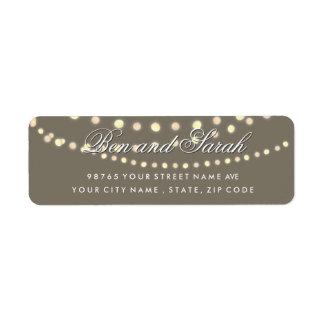 String Lights | Bistro Light Return Address Labels