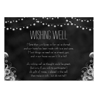 String Lights Black Chalkboard Wishing Well Cards Pack Of Chubby Business Cards