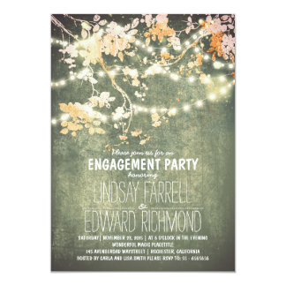 String lights cute and fancy engagement party 13 cm x 18 cm invitation card