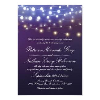 String Lights Evening Wedding Card