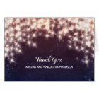 String Lights Navy Wedding Thank You Card