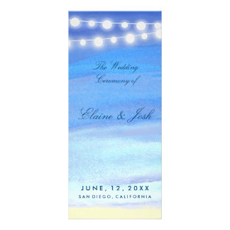 String lights on the water Program Template Rack Card Template