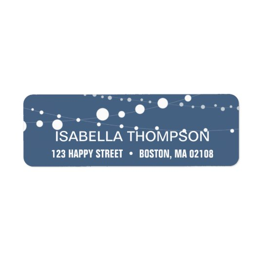 String Lights Return Address Return Address Label
