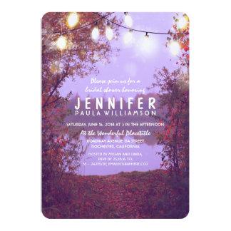 String Lights Waterfront Rustic Bridal Shower 13 Cm X 18 Cm Invitation Card