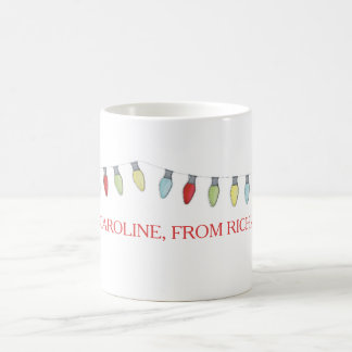 String of Christmas  Lights Editable Mug